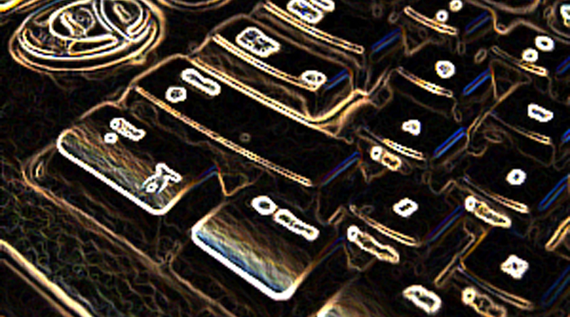 Blurry Keyboard Thumb
