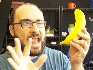vSauce Michael with a banana